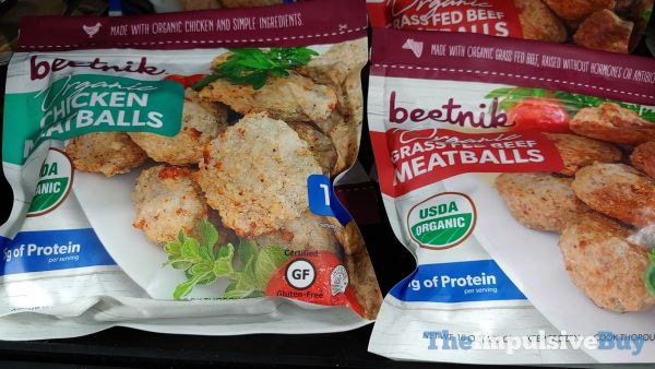 Beetnik Organic Chicken Meatballs and Grass Fed Beef Meatballs