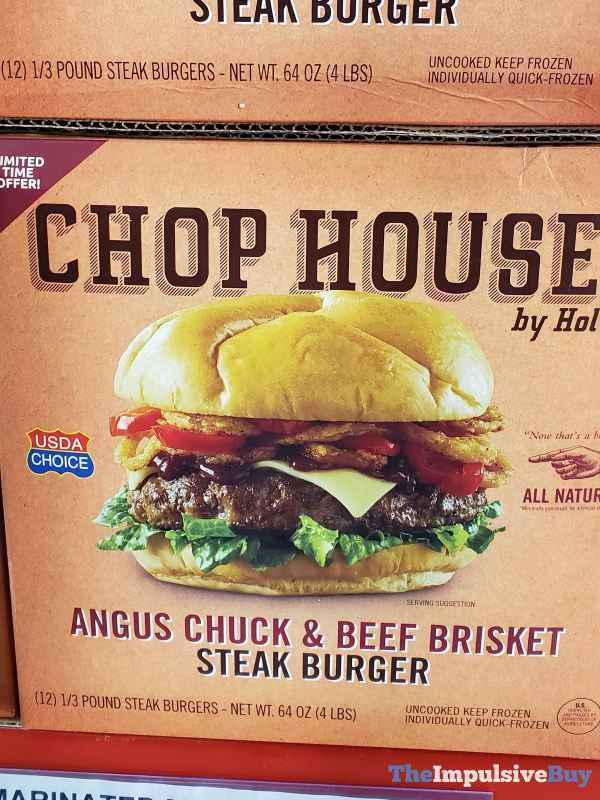 Chop House by Holten Angus Chuck  Beef Brisket Steak Burger