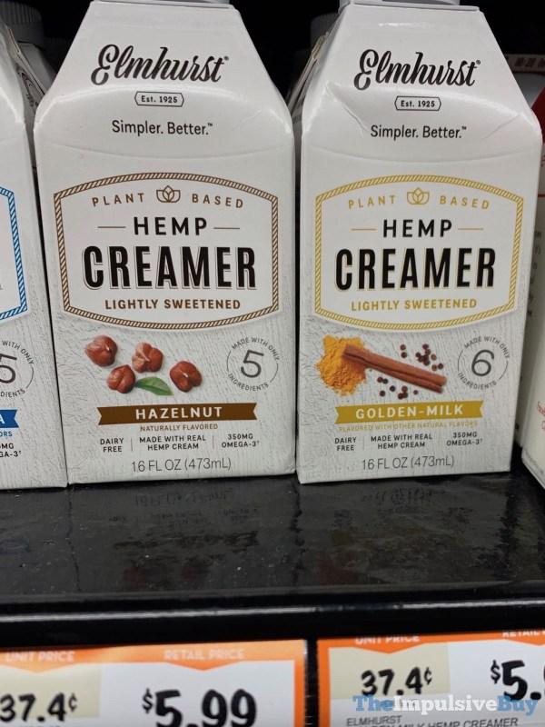 Elmhurst Hazelnut and Golden Milk Hemp Creamer