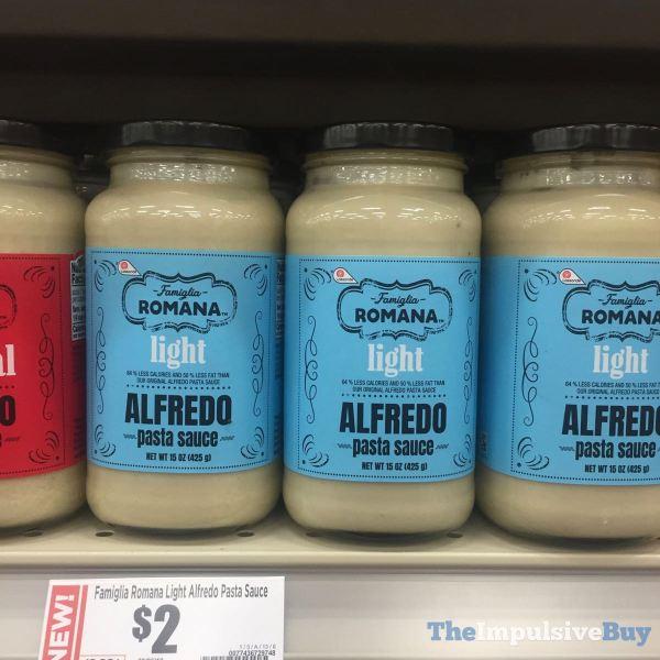 Famiglia Romana Light Alfredo Pasta Sauce
