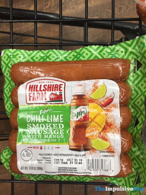 Hillshire Farm Tajin Chili Lime Smoked Sausage with Mango