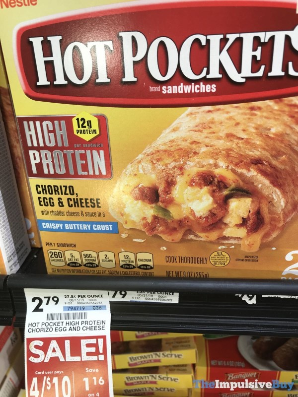 Hot Pockets High Protein Chorizo Egg  Cheese