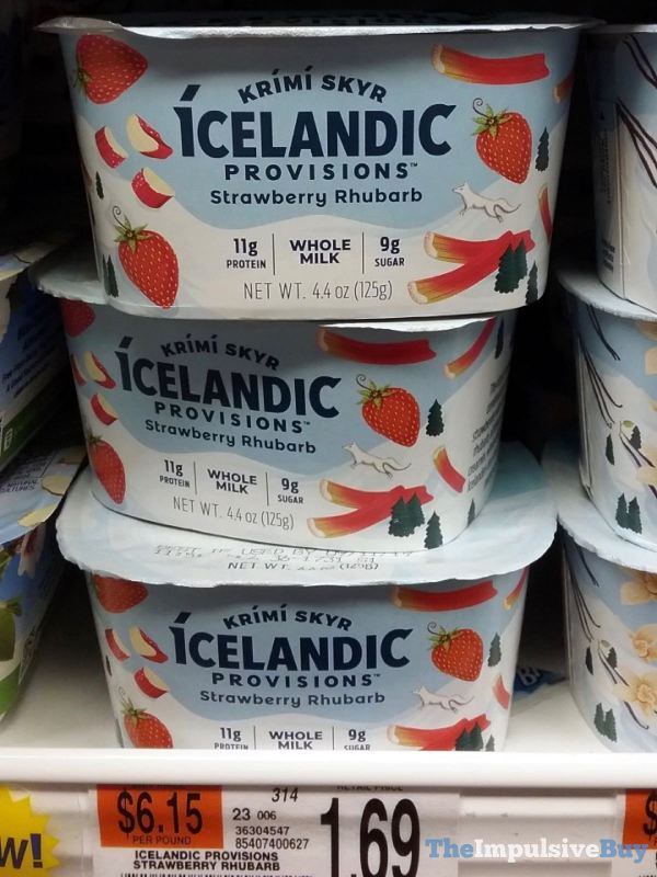 Icelandic Provisions Strawberry Rhubarb Krimi Skyr Yogurt