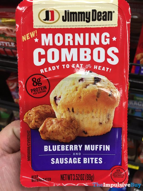 Jimmy Dean Morning Combos Blueberry Muffin and Sausage Bites