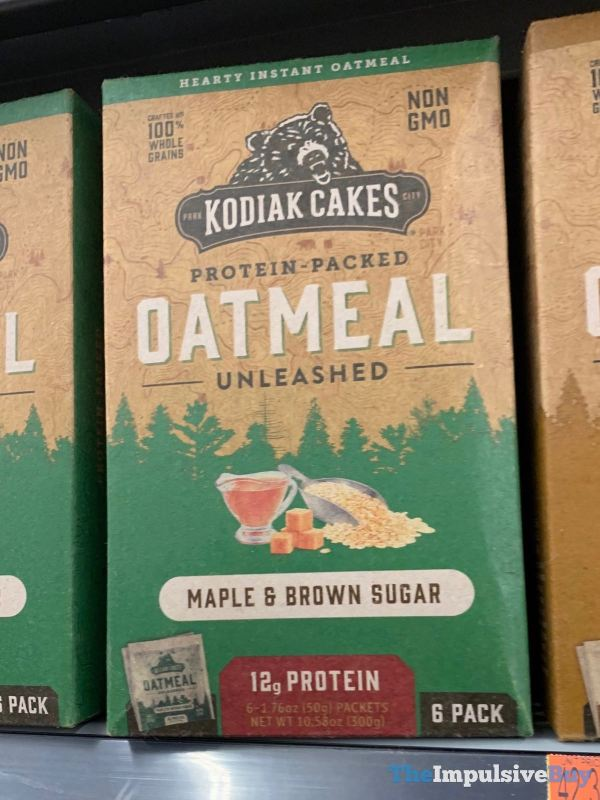 Kodiak Cakes Maple  Brown Sugar Oatmeal Unleashed Packets