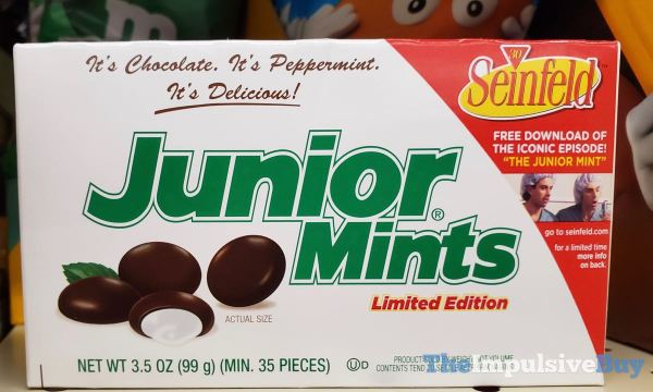 Limited Edition Seinfeld 30 Year Anniversary Junior Mints