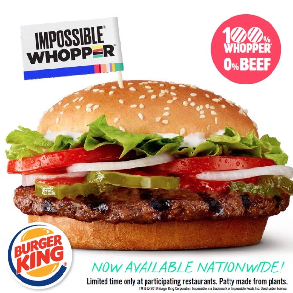 NEWS Burger King Impossible Whopper