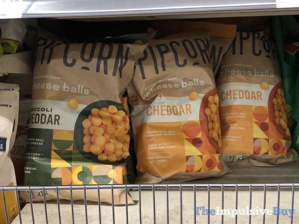 Pipcorn Cheese Balls  Broccoli Cheddar and Cheddar