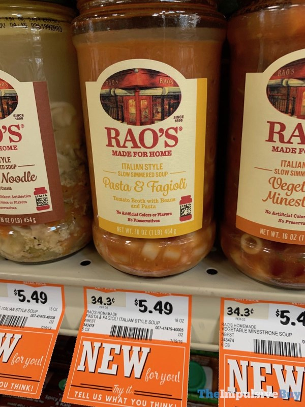 Rao s italian Style Slow Simmered Soup Pasta  Fagioli