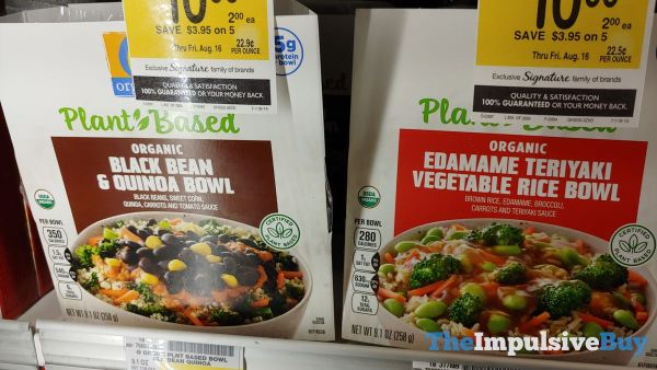 Safeway Organics Plant Based Bowls  Black Bean  Quinoa and Edamame Teriyaki Vegetable Rice Bowl