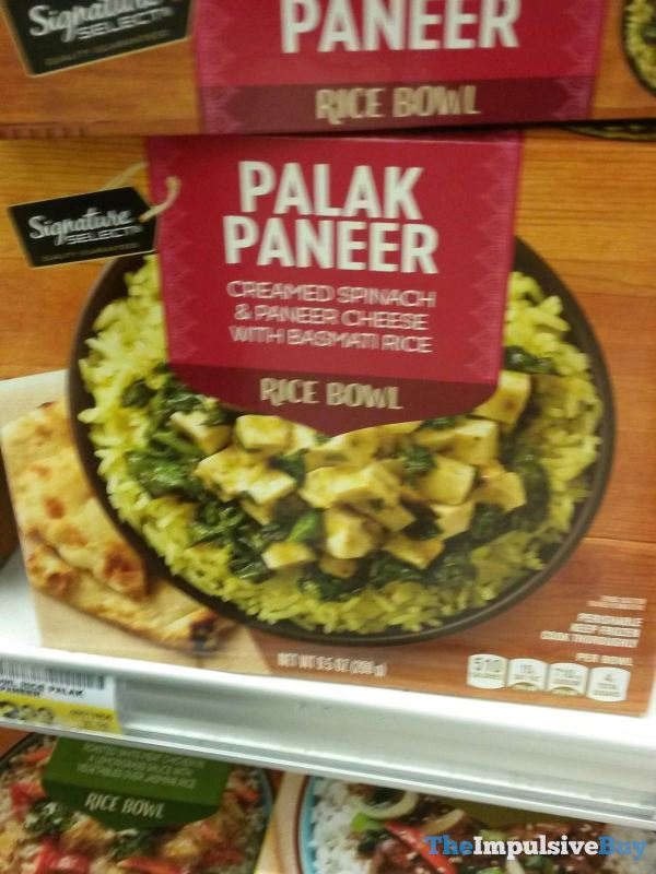 Signature Select Palak Paneer Rice Bowl