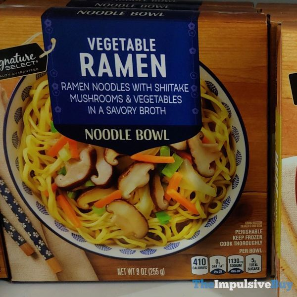 Signature Select Vegetable Ramen Noodle Bowl