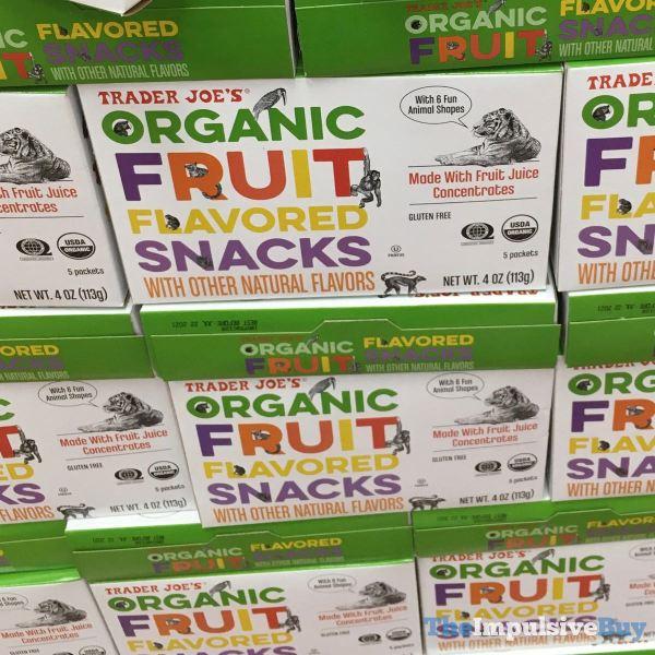 Trader Joe s Organic Fruit Flavored Snacks