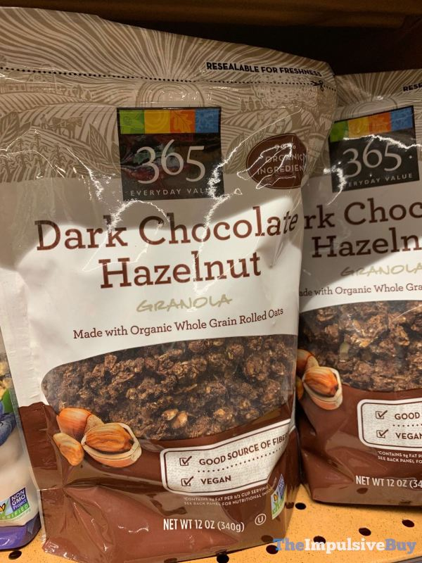 365 Everyday Value Dark Chocolate Hazelnut Granola