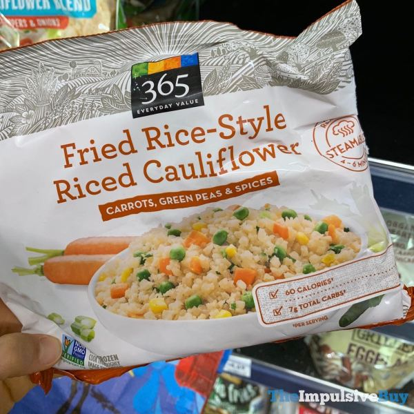 365 Everyday Value Fried Rice style Riced Cauliflower Carrots Green Peas  Spices
