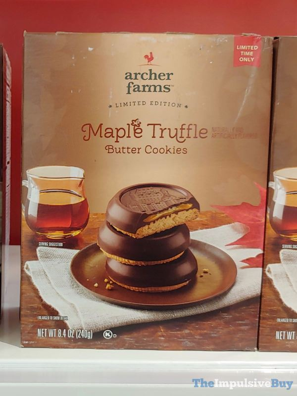 Archer Farms Limited Edition Maple Truffle Butter Cookies