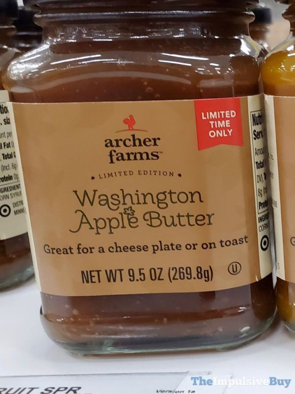 Archer Farms Limited Edition Washington Apple Butter
