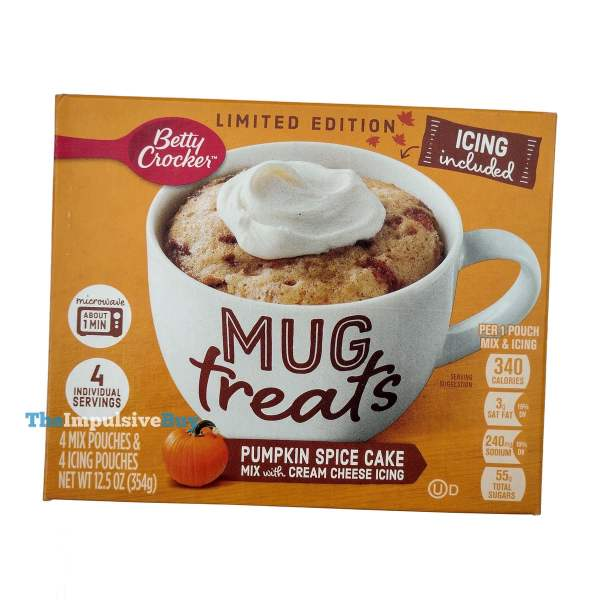 Betty Crocker Limited Edition Pumpkin Spice Cake Mug Treats