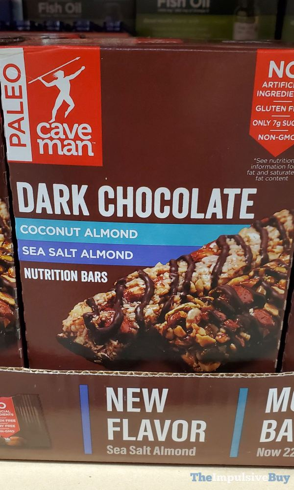 Caveman Dark Chocolate Sea Salt Almond Nutrition Bars