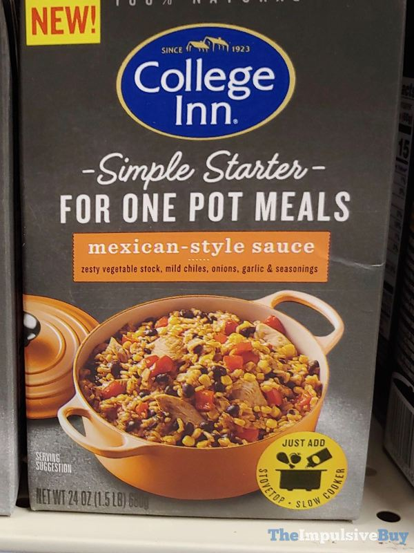 College Inn Simple Starter For One Pot Meals Mexican Style Sauce