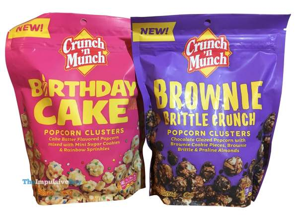 Crunch  n Munch Popcorn Clusters  Birthday Cake and Brownie Brittle Crunch