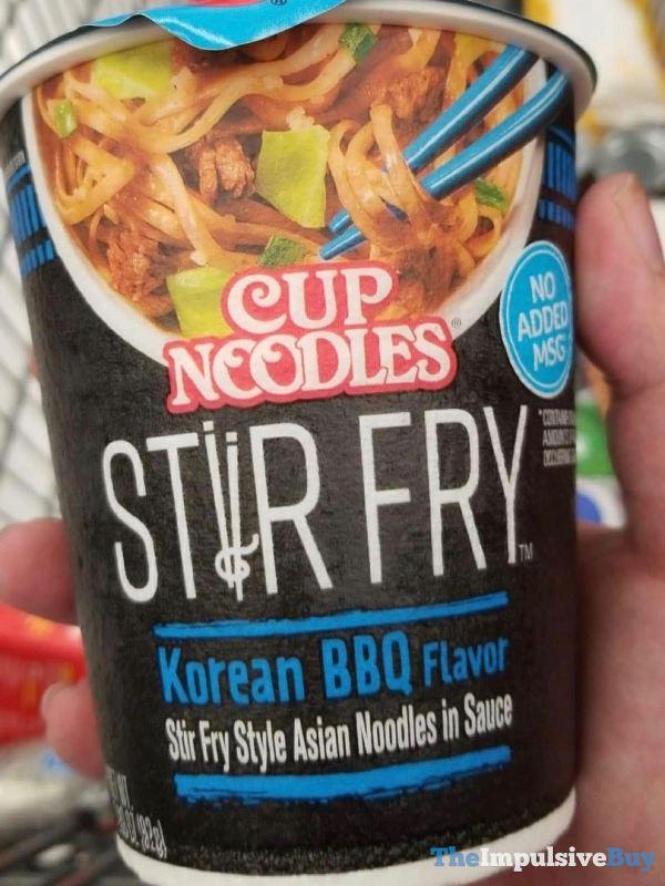 Cup Noodles Stir Fry Korean BBQ Flavor