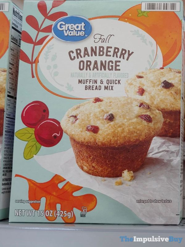Great Value Fall Cranberry Orange Muffin  Quick Bread Mix
