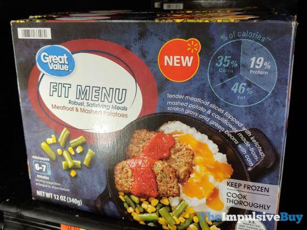 Great Value Fit Menu Meatloaf  Mashed Potatoes