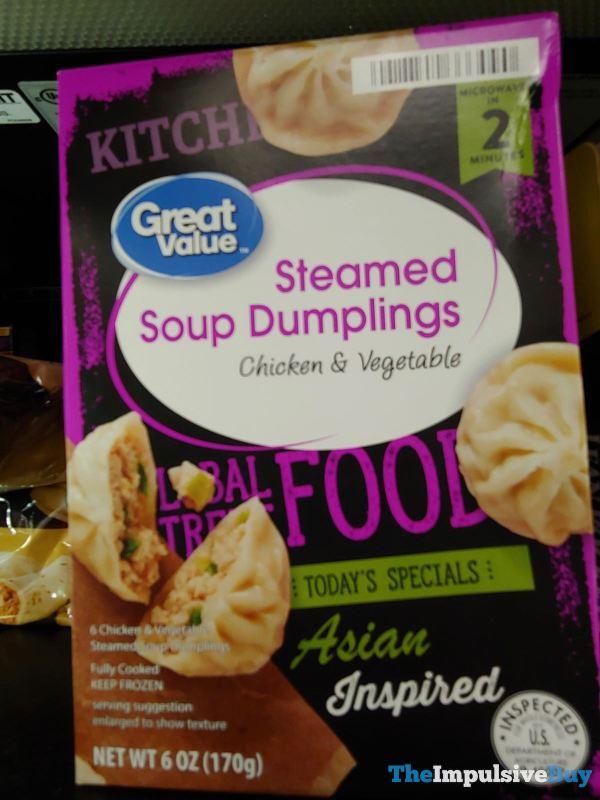 Great Value Global Street Food Asian Inspired Steamed Soup Dumplings Chicken  Vegetable
