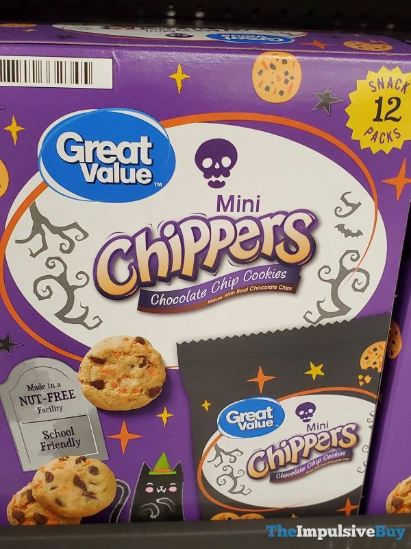Great Value Halloween Mini Chippers Chocolate Chip Cookies