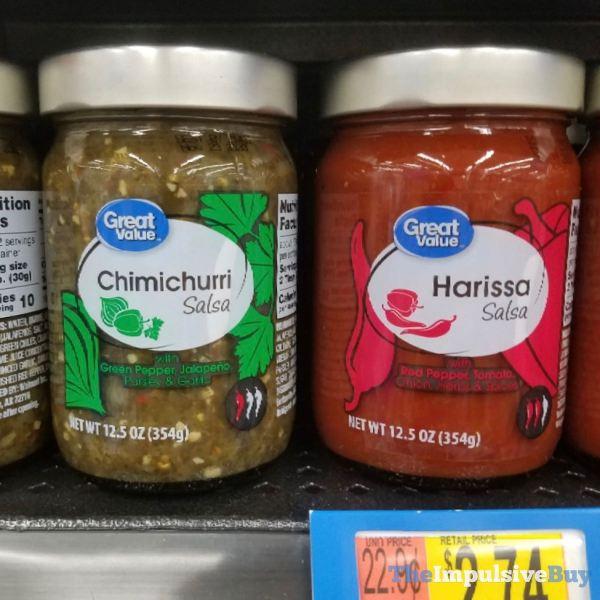 Great Value Harissa Salsa and Chimichurri Salsa