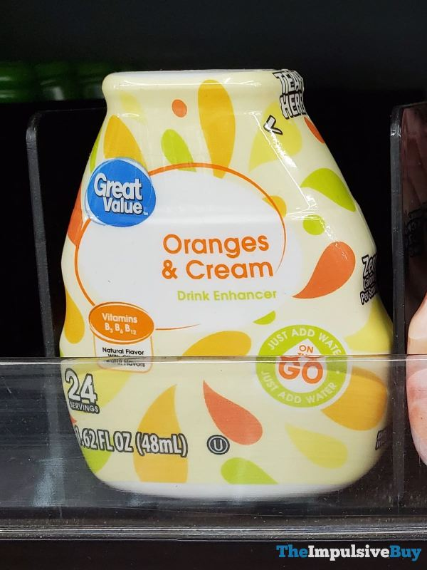 Great Value Oranges  Cream Drink Enhancer