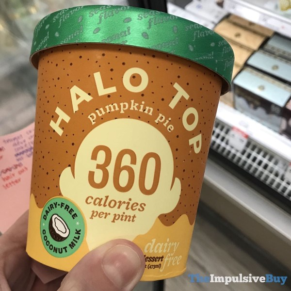 Halo Top Pumpkin Pie Dairy Free Frozen Dessert