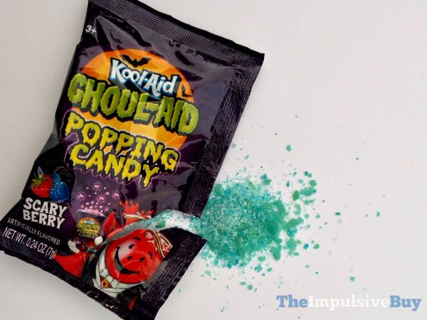 Kool Aid Ghoul Aid Scary Berry Popping Candy Packet