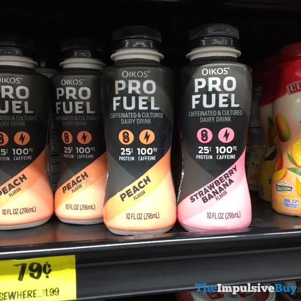Oikos Pro Fuel Peach and Strawberry Banana