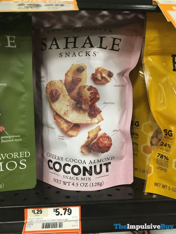Sahale Snacks Cherry Cocoa Almond Coconut Snack Mix