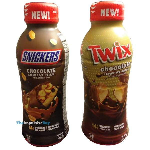 Snickers and Twix Chocolate Lowfat Milk