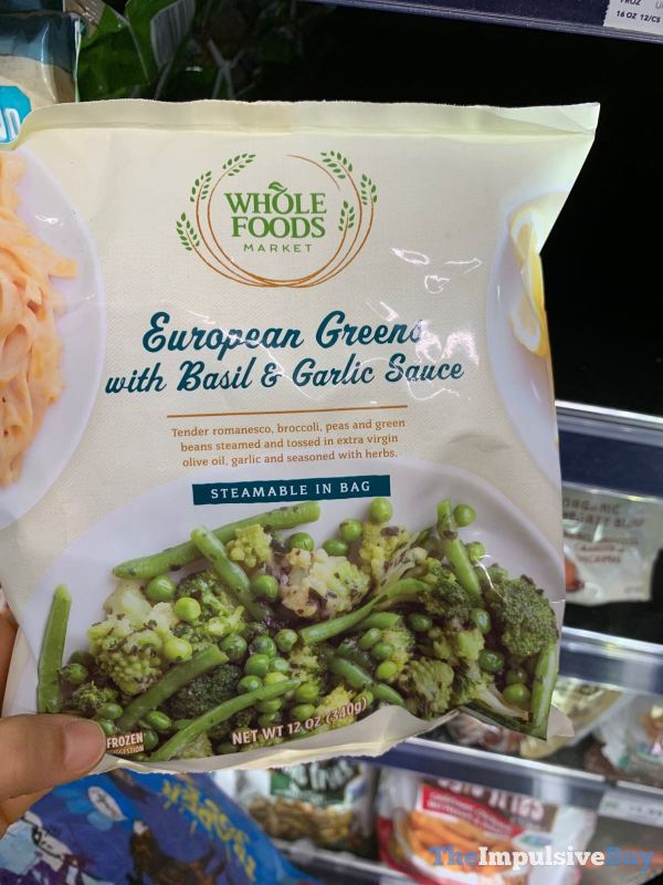 Whole Foods European Greens with Basil  Garlic Sauce