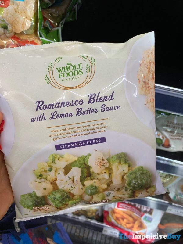 Whole Foods Romanesco Blend with Lemon Butter Sauce