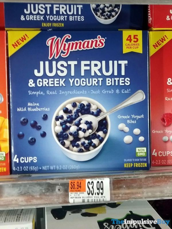 Wyman s Blueberry Just Fruit  Greek Yogurt Bites