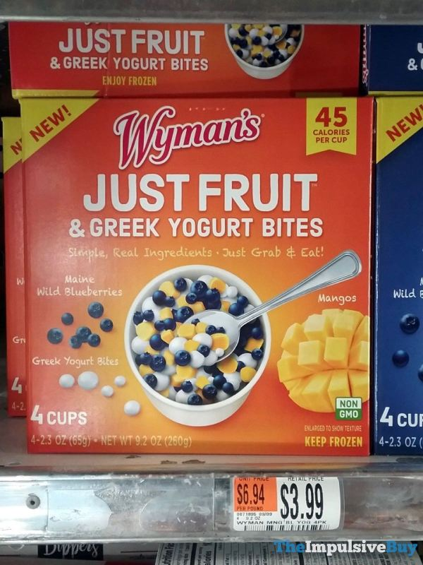 Wyman s Blueberry and Mango Just Fruit  Greek Yogurt Bites