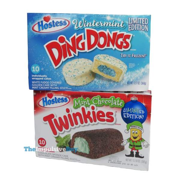 1 Hostess Limited Edition Wintermint Ding Dongs and Mint Chocolate Twinkies