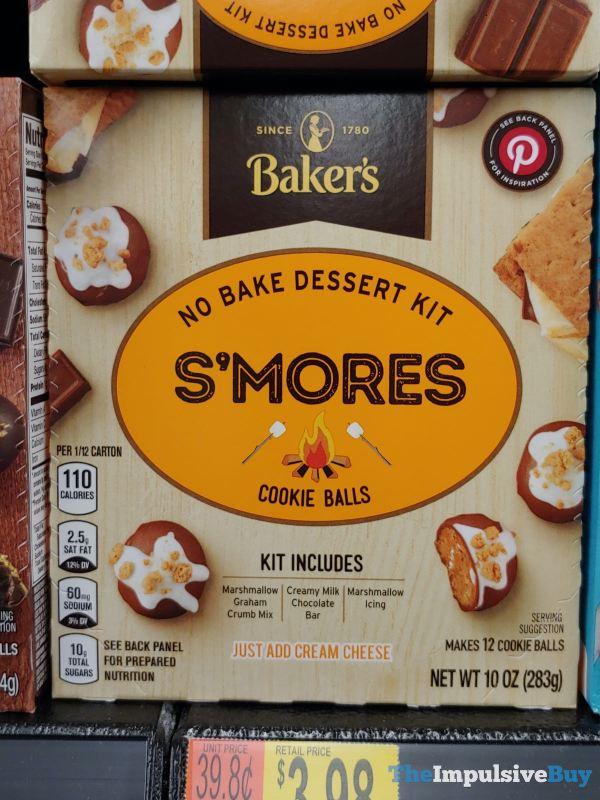 Baker s S mores Cookie Balls No Bake Dessert Kit