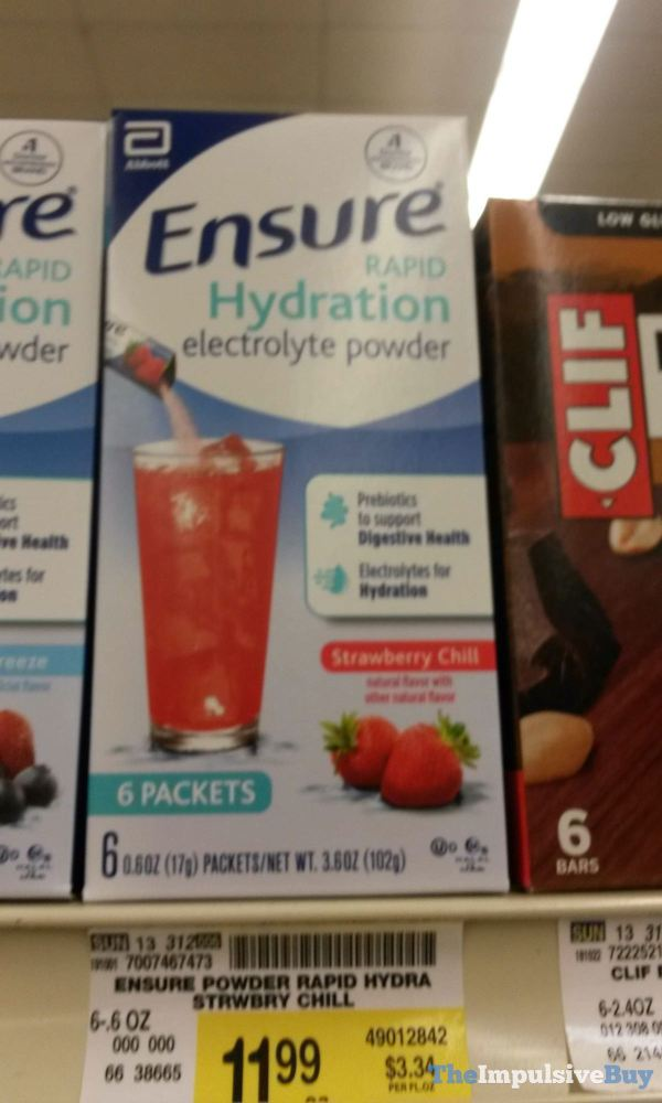 Ensure Strawberry Chill Rapid Hydration Electrolyte Powder