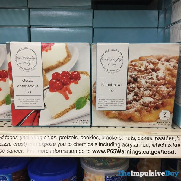 Enticingly Easy Classic Cheesecake Mix and Funnel Cake Mix