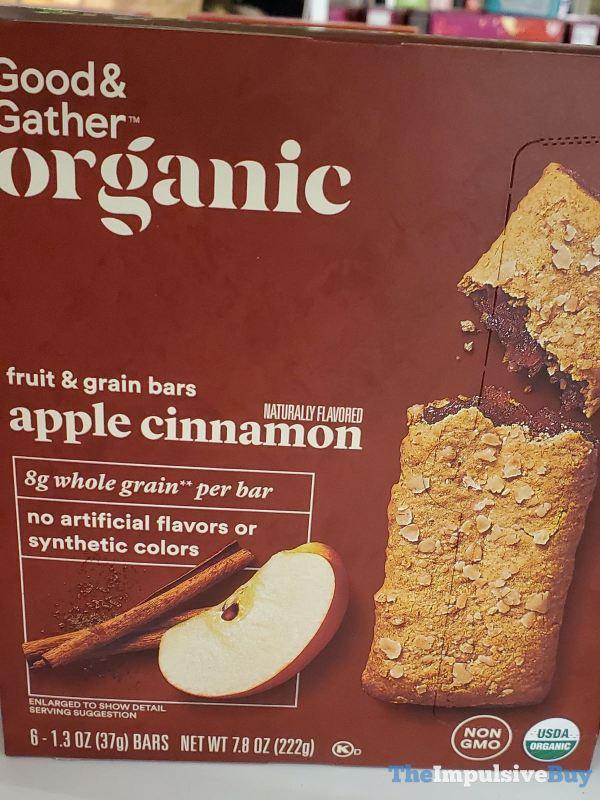 Good  Gather Organic Apple Cinnamon Fruit  Grain Bars