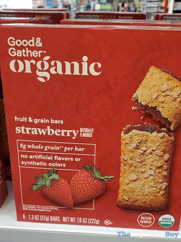 Good  Gather Organic Strawberry Fruit  Grain Bars