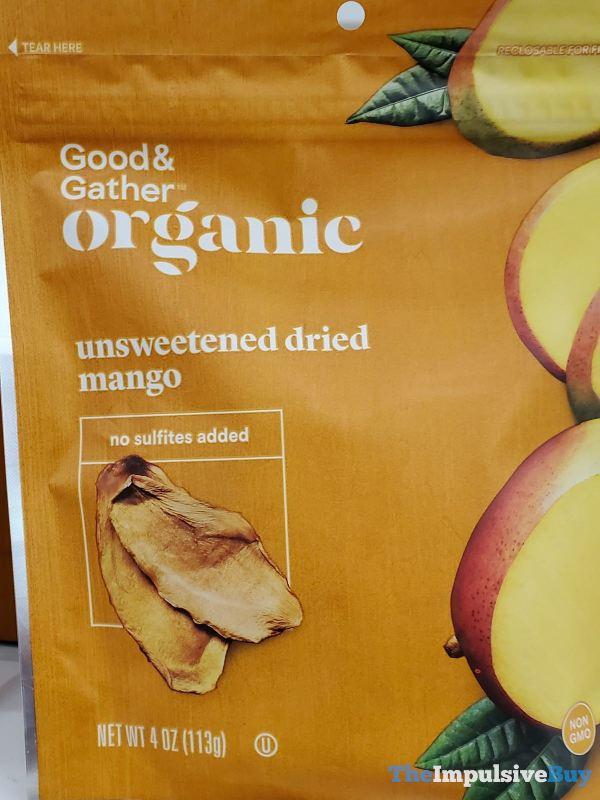 Good  Gather Organic Unsweetened Dried Mango