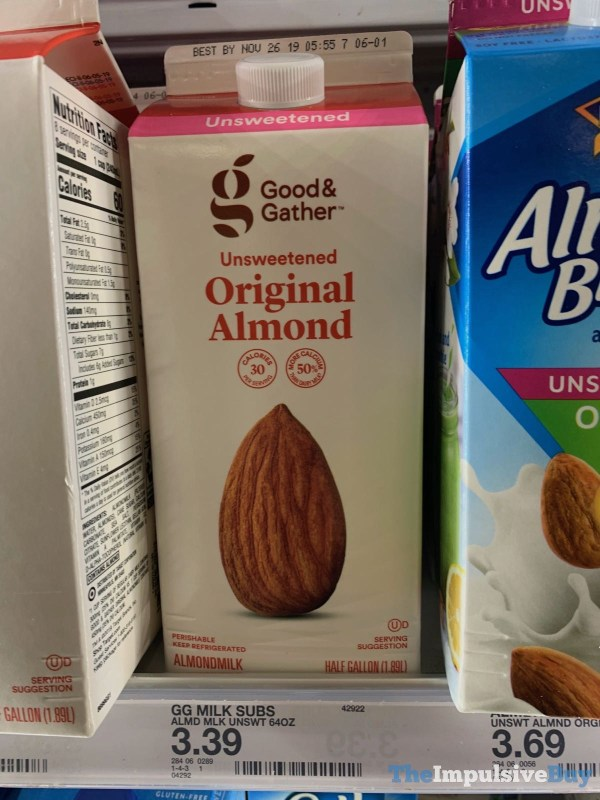 Good  Gather Unsweetened Orginal Almondmilk