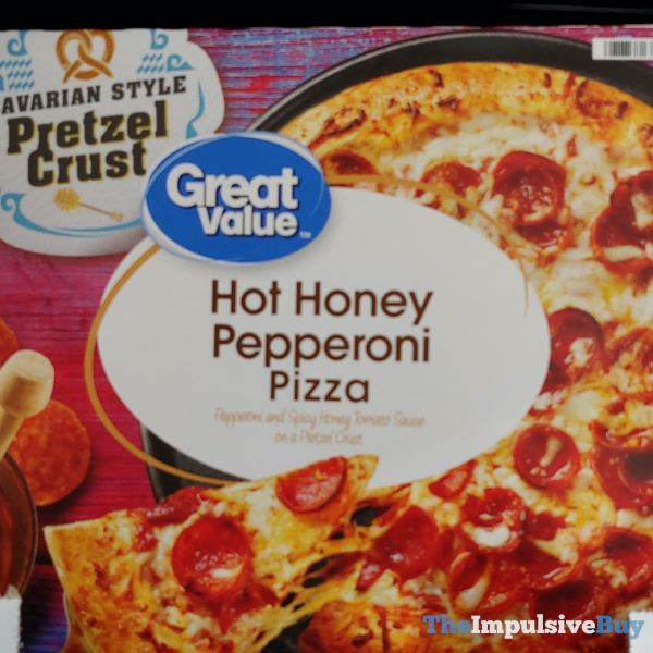 Great Value Bavarian Style Pretzel Crust Hot Honey Pepperoni Pizza